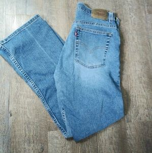 Levi's 515 Low Rise Boot Cut Jeans As 8 Short